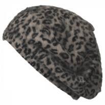 Leopard Print Angora Beret