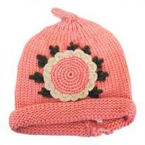 Kids' Sunflower Knit Beanie Hat