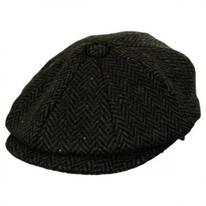 Cambridge Herringbone Wool Newsboy Cap