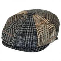 Baby Plaid Patchwork Wool Blend Newsboy Cap