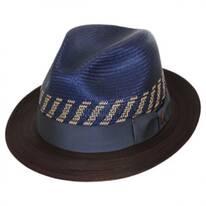 Brahman Shantung Straw Fedora Hat