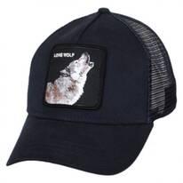 Lone Wolf Mesh Trucker Snapback Baseball Cap