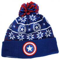 Marvel Comics Cap America Winter Knit Beanie Hat