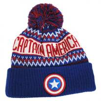 Marvel Comics Cap America Sweater Knit Beanie Hat