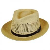 Continental Vent Grade 8 Panama Straw Fedora Hat