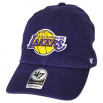 Los Angeles Lakers NBA Clean Up Strapback Baseball Cap Dad Hat