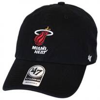 Miami Heat NBA Clean Up Strapback Baseball Cap Dad Hat