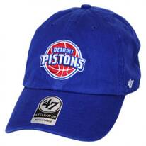 Detroit Pistons NBA Clean Up Strapback Baseball Cap Dad Hat