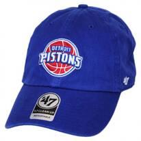 Detroit Pistons NBA Clean Up Strapback Baseball Cap Dad Hat
