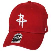 Houston Rockets NBA Clean Up Strapback Baseball Cap Dad Hat