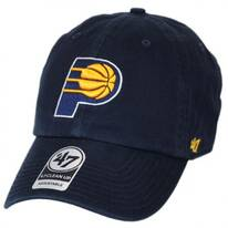 Indiana Pacers NBA Clean Up Strapback Baseball Cap Dad Hat