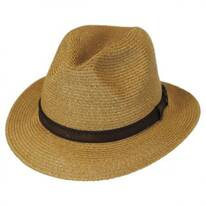 Leather Band Toyo Straw Safari Fedora Hat