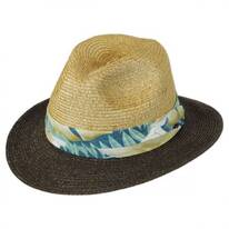 Tropical Band Toyo Straw Safari Fedora Hat