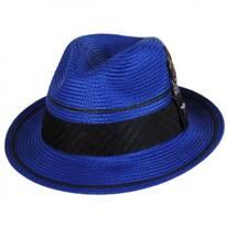 Two Stripe Stingy Brim Fedora Hat