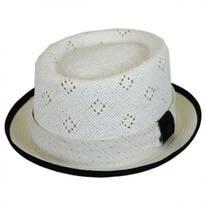 Vent Crown Toyo Straw Pork Pie Hat