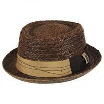 Samba Raffia Straw Pork Pie Hat