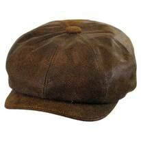 Leather Newsboy Cap