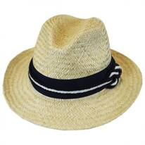 Nautical Palm Straw Fedora Hat