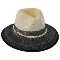 Anchor Color Block Toyo Straw Fedora Hat