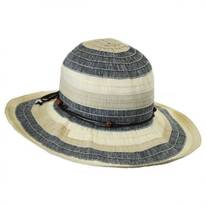 Three-Tone Ribbon Sun Hat