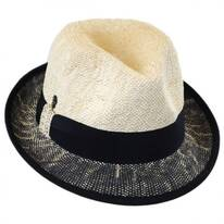 Two-Tone Toyo Straw Trilby Fedora Hat
