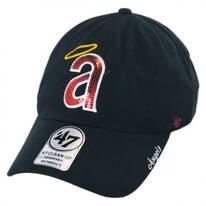 Los Angeles Angels of Anaheim MLB Sparkle Strapback Baseball Cap Dad Hat
