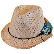 Kids' Fringe Toyo Straw Fedora Hat