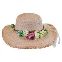 Kids' Fringe Toyo Straw Sun Hat