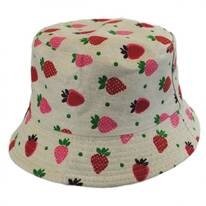 Kids' Strawberry Cotton Bucket Hat