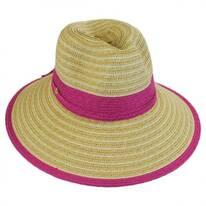 Two-Tone Toyo Straw Fedora Hat