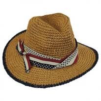 Americana Toyo Straw Fedora Hat