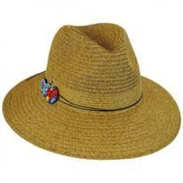 Disc Bead Band Toyo Straw Fedora Hat