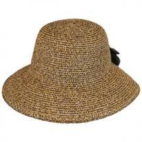 V-Cut Bow Toyo Straw Facesaver Hat