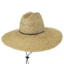 Raffia Straw Lifeguard Hat