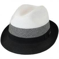 Color Block Toyo Straw Trilby Fedora Hat