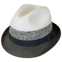 Color Block Toyo Straw Trilby Fedora Hat