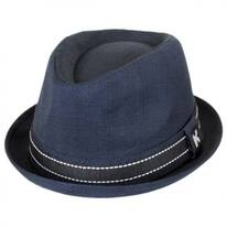 Turnt Up Brim Fabric Trilby Fedora Hat