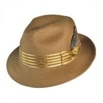 Satin Striped Band Fedora Hat