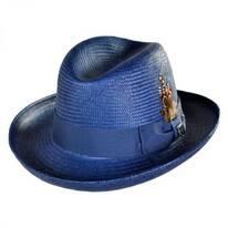 Toyo Straw Homburg Hat