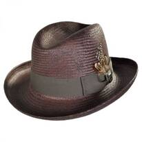 Toyo Straw Homburg Hat