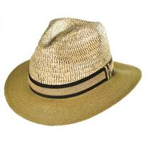 Buri Braid Straw Safari Fedora Hat