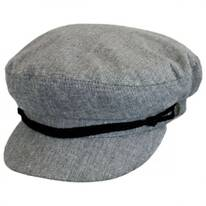 Chambray Linen and Cotton Fiddler Cap
