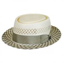 Miro Shantung Straw Pork Pie Hat