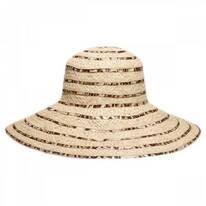 Panthere Raffia Straw Sun Hat