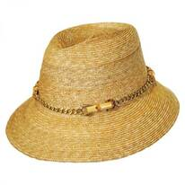 Willow Milan Straw Fedora Hat