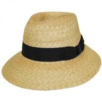 Charley Milan Straw Fedora Hat