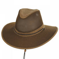 Mesh Aussie Fedora Hat with Chincord