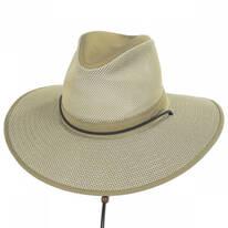 Mesh Aussie Grande Brim Fedora Hat