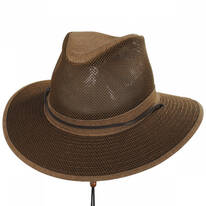 Packable Mesh Aussie Fedora Hat