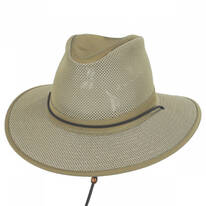 Crushable Mesh Aussie Fedora Hat